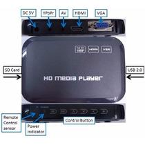 Media Player Full Hd 1080p Hdmi/vga Rmvb Mkv Avi Divx H.264