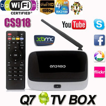Box Tv Full Hd Android 4.4 Smartv Mini Pc Quad Core Com Xbmc