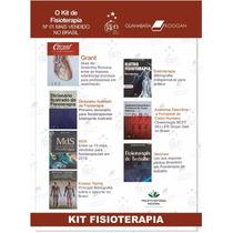Livro Fisioterapia Kit 6 Livros + Bolsa