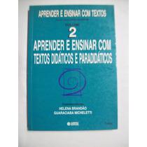 Livro: Aprender Ensinar Com Textos Didáticos E Paradidáticos