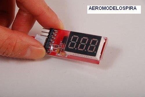 Medidor De Bateria Lipo - Mede Voltagem Indicador 2s Até 6s