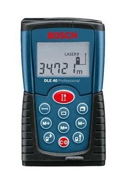 Medidor De Distância Trena A Laser Dle40 Bosch Original 40m