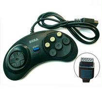 Controle Mega Drive 2 3 Com 6 Botão Similar Original G25