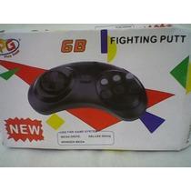 Kit 2 Controles Mega Drive + 1 Cabo Av Na Caixa Garantia