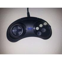 Controle Mega Drive 2 3 Com 6 Botão Similar Original -leilão