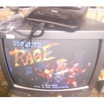 Mega Drive 3 Tectoy 10 Jogaços Com Av E Jogo!