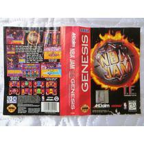 Encarte Nba Jam Tournament Edition - Original Genesis