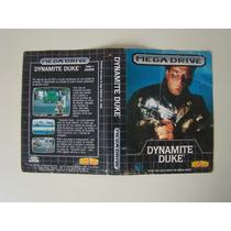 Encarte Dynamite Duke - Mega Drive / Tec-toy