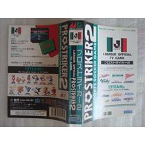 Encarte J League Pro Strike 2 - Mega Drive Sega Jogo G-5526