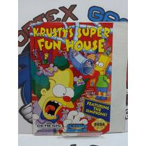 Encarte Manual Capa Jogo Mega Drive Original Krusty
