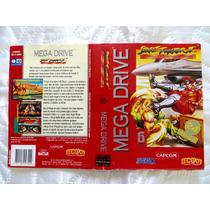 Encarte Street Fighter 2 Spc Champ Edition - Original Tectoy