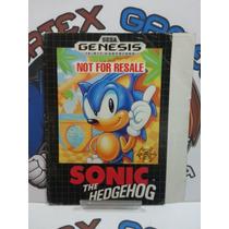 Capa Manual Encarte Mega Drive Sega Sonic