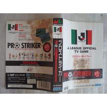 Encarte J League Pro Strike Mega Drive Sega Cart Jogo G-5526