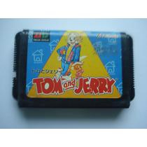 Fita De Mega Drive Tom E Jerry Original Japonesa