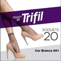 Pacote C/12 Pares Meias Trifil Soquete N 20 Branco Cor 001