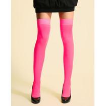 Meia 7/8 Fio 70 Fashion Opaca Rosa Pink Fantasia Lingerie