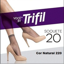 Pacote C/12 Pares Meias Trifil Soquete N 20 Natural Cor 220