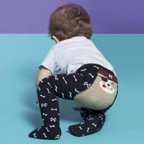 Meia Calça Em Malha Bebê Menino