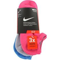 Kit Meia Feminina Nike 3x Performance Cotton 34/38