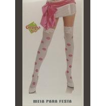 Meia Calça Fina Listrada - Fantasia Beijos - Festa Carnaval