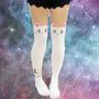 Meia Calça - Sailor Moon - Gatinho - Branca