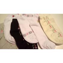 Meias Soquete Feminina Estampada Algodão Kit Com 12 Pares