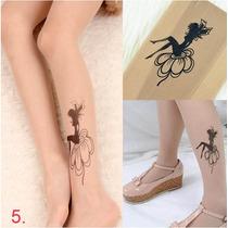 Meia Calça Tatuagem Transparente Varios Modelos Frete Gratis