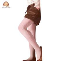 Meia Calça Infantil Canelada Fio 70, Rosa Tamanho M