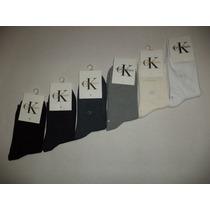 Kit C/ 3 Pares De Meias Calvin Klein !! Importado E Novo 3/4