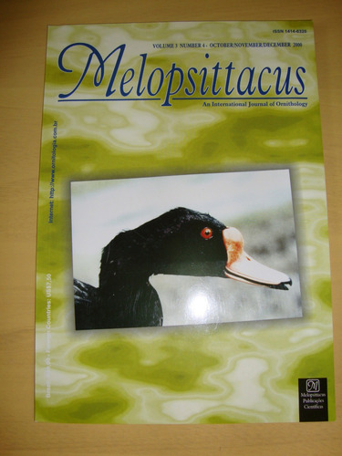 Melopsittacus N. 10 - International Journal Of Ornithology