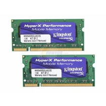 Kit Memória 2gb Ddr2 Kingston Hyperx Notebook (2gb+2gb)
