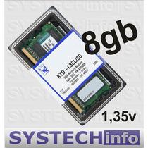 Memória 8gb Ddr3 1600mhz Kingston Notebooks Low Voltage Dell