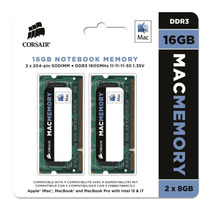 Mem Mac 16gb Corsair 1600mhz (2x8) Imac Macbook Mac Pro- Sp