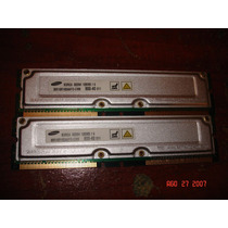 Memória Rambus 128mb Bus 800 Samsung Tenho Pares Memtest Ok!
