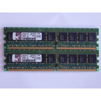 2gb Kit 2x1gb 2rx8 Pc2-5300 Ecc Udimm Kingston Para Servidor