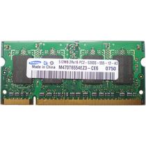Memória Samsung 512mb Pc2-5300 Ddr2 Ram (m470t6554ez3-ce6)