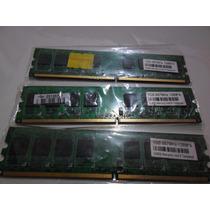3 Gb Ddr2 667 - Sendo 3 Pentes De 1gb - Usado Testado E Func