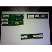 Kit Com 5 Módulos De Memória Ddr2 - Pente De Memória