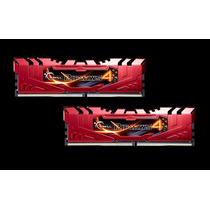 Memória Ddr4 32gb 2400mhz G.skill Ripjaws (4 X 8gb) Vermelha