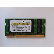 2 Memórias 2gb Ddr2 Markvision 667mhz Notebook