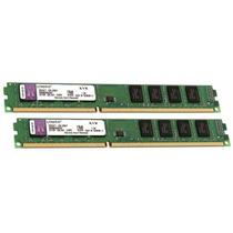 Kit 8gb Memória Kingston 2x 4gb Ddr3 1600 Mhz Pc3 12800 Nova