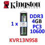 Memória Kingston 4gb Ddr3 1333 Cl9 Kvr13n9s8/4 Pc3-10600