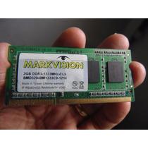 Memória P Notebook Markivision 2gb Ddr3 1333mhz Pc3 10600