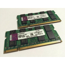 Kit 4gb (2x2gb) 667mhz Kingston Kvr667d2s5/2g P/ Notebook