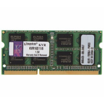 Memória Notebook 8gb 1600mhz Ddr3 Kingston 204-pin So-dimm