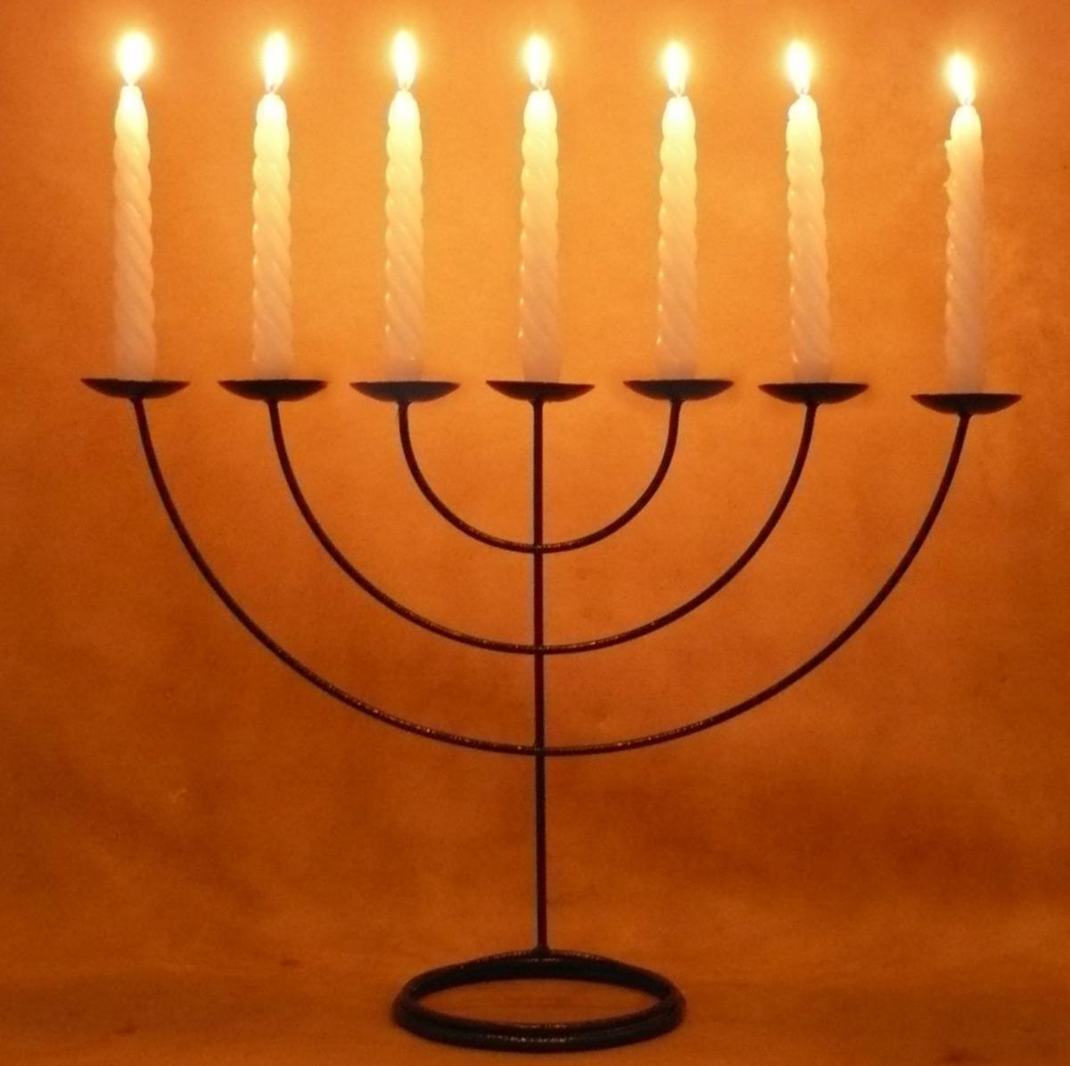 Menorah casti al 7 bra os candelabro 7 velas 48 cm x 36 - Portavelas grandes ...