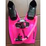 Madiving Mascara Snorkel Valvula Nadadeira Seasub 12x Pink