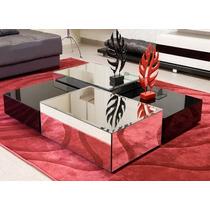 Mesa Centro Espelhada Sala Moderna Cristal