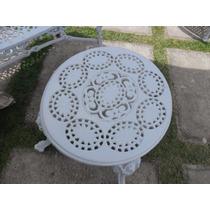 Mesa De Centro Para Jardim - Medalhão - Em Aluminio Fundido