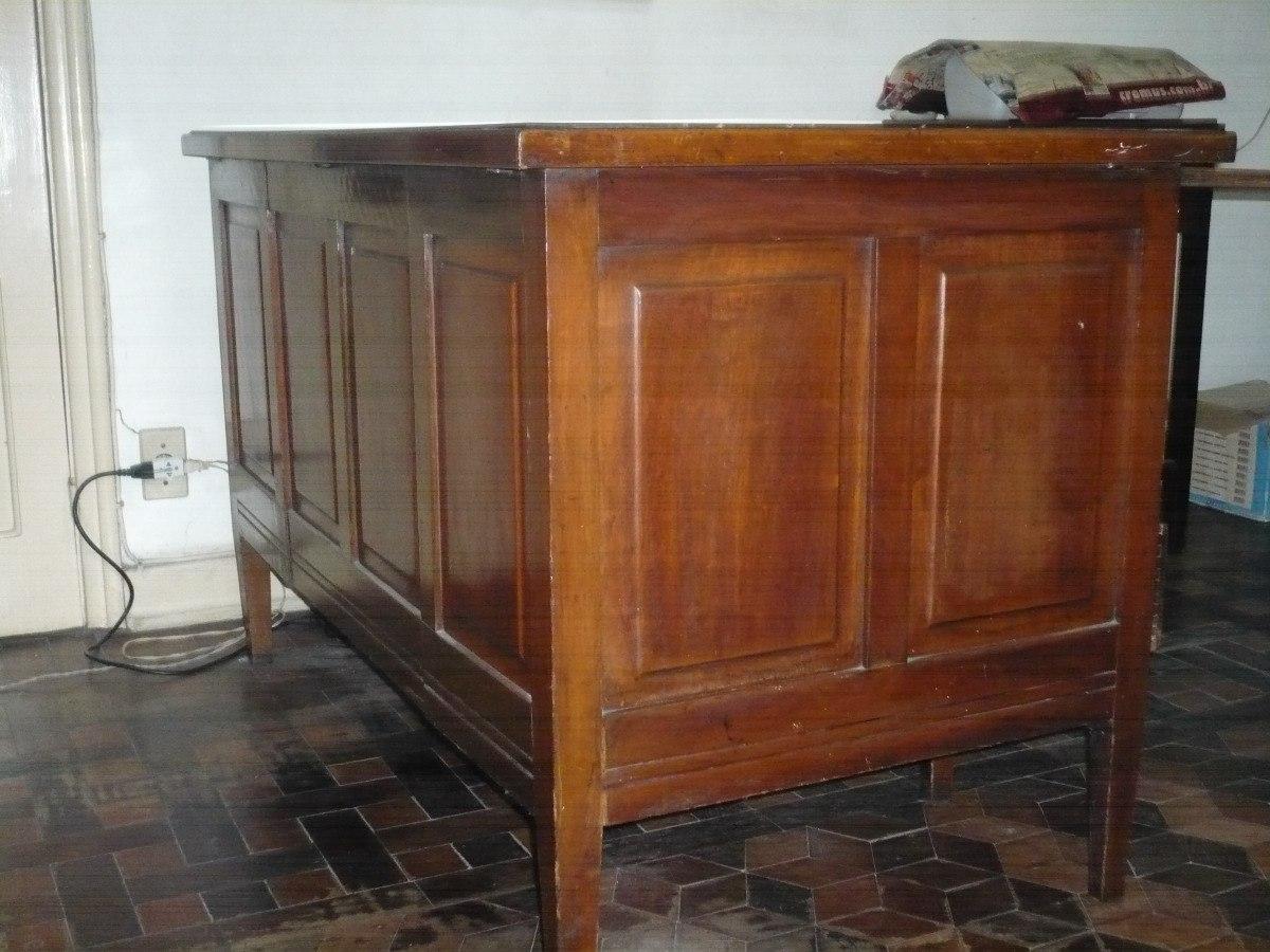 Mesa de escritorio antiga madeira de lei r no - Mesa de escritorio ...